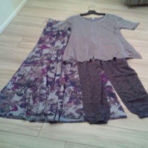 Lularo Maxi Skirt, PerfectT, & Jogger Pants